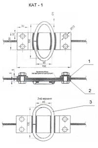 Анкерный кронштейн СИП на трос КАТ-1