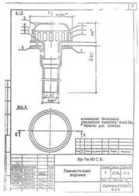 Воронка водосточная ВР-А-80-00