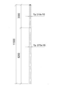 Опора контактной сети ОК-16 (11,5)