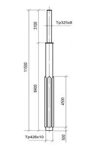 Опора контактной сети ОКВ-30 (11,5)