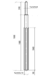 Опора контактной сети ОКВ-30Д (15,0)