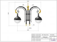 Опора контактной сети с декоративными чугунными элементами ОС 3-4 (11,5) ОК