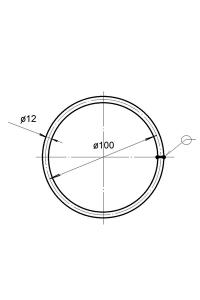 Кольцо для тросовой подвески