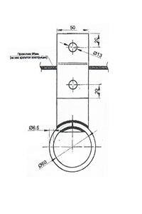 Кронштейн подвеса СИП на трос КПТ-1